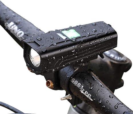 GZCRDZ - Linterna Frontal para Bicicleta (450 LM, luz LED para ...