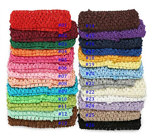 Qandsweet Baby Girl's Stretch Headbands Crochet Hair Bands (26 Colors) (Crochet Headband Boutique)