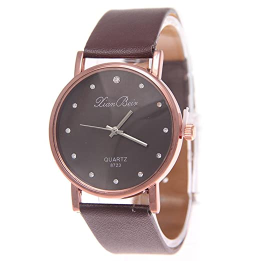 Reloj de Pulsera Hombre y Mujer 2018 ,Logobeing Relojes de Acero Inoxidable Cuarzo Analógico,Remoción Barato (Beige): Amazon.es: Relojes