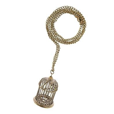 Amazon bird cage pendant necklace jewelry bird cage pendant necklace mozeypictures Image collections