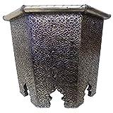 Moroccan Octagonal Metal Accent Table Arabesque Design Furniture