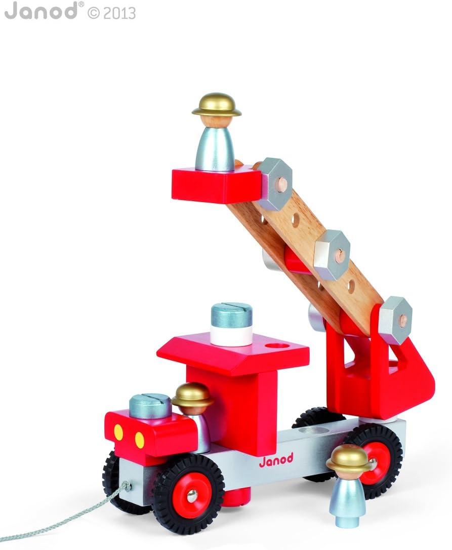 Legno Janod J06495 Bulldozer Fai da Te