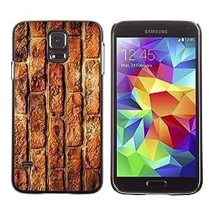 Qstar Arte & diseño plástico duro Fundas Cover Cubre Hard Case Cover para SAMSUNG Galaxy S5 V / i9600 / SM-G900F / SM-G900M / SM-G900A / SM-G900T / SM-G900W8 ( Brick Wall Rustic Red Street Building)