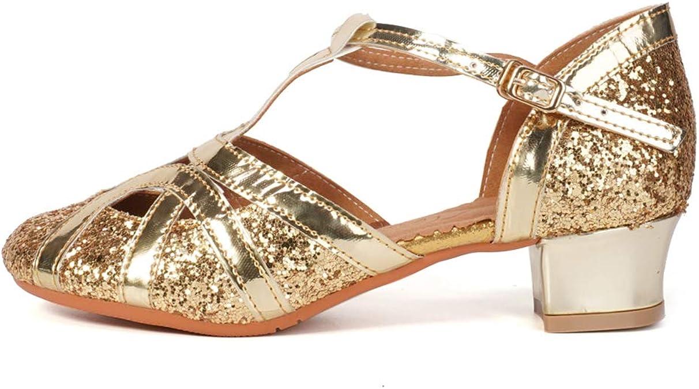 DKZSYIM Girls/&Womens Satin Latin Dance Shoes Ballroom Performance Shoes,Style 203