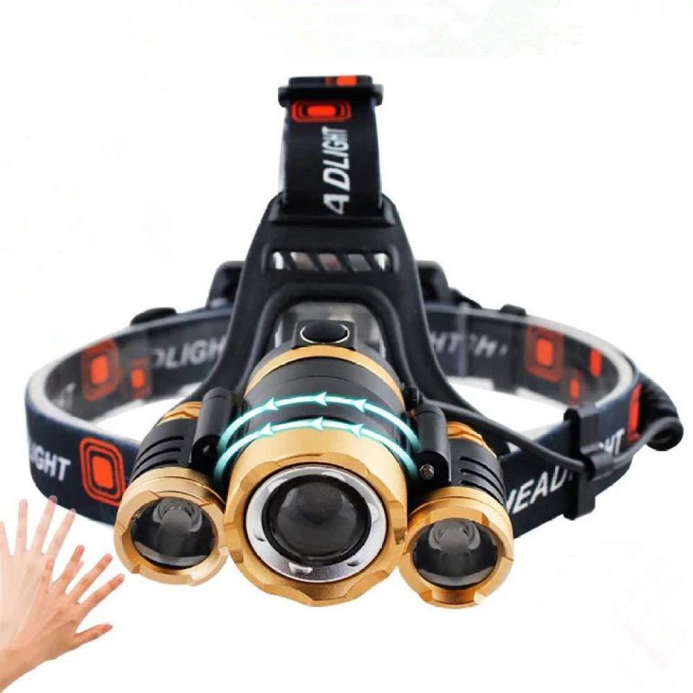 MYJ T6 DREI-Kopf-Blendung Sensor Scheinwerfer, Angeln Nachtlicht Angeln Führte Outdoor Bergsteigen Beleuchtung Scheinwerfer
