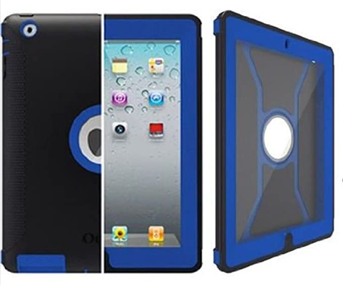 size 40 6ace7 727a7 OtterBox Defender Series Case with Screen Protector and Stand for iPad 4th  Generation, iPad 2 and 3 - Navy/Blue