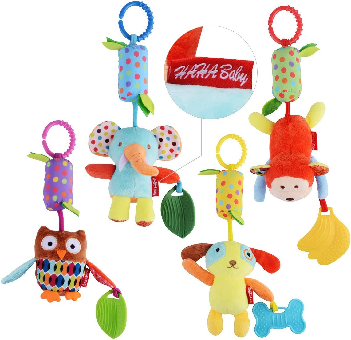 Activity Spiral Baby Pram Toy Baby Stroller Toys with Educational Haha Mirror Plush Toys Suitable from 0 to 12 Months Boys and Girls HANLL Cute Pram Toy