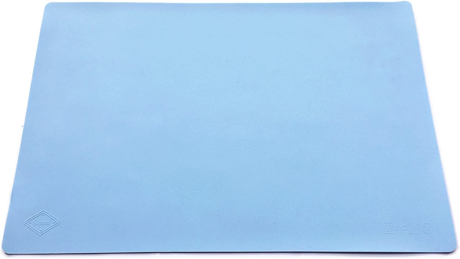Supmat XL, Super Versatile Extra Large and Thick Silicone Mat, Counter Mat (1, Serenity Blue)