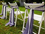Set of 50 Lilac Wedding Chair Sash