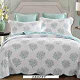 FADFAY Queen Size Modern Trees Comforter Sets Boys Quilted Bedding Set Cute Plants Comforter Bedding Sets Boys Quilts And Blankets 3Pcs