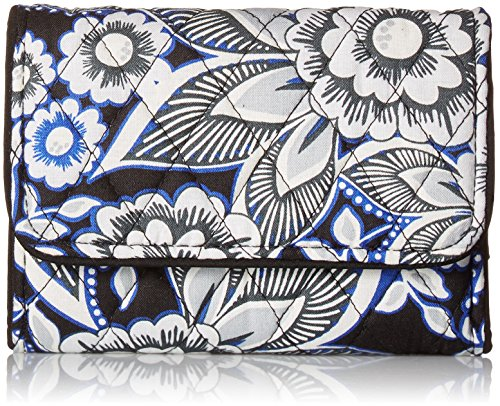 Vera Bradley Women's RFID Riley Compact Wallet, Snow Lotus, One Size