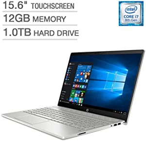 2018 HP Pavilion 15t Full HD(1980x1080) Touscreen Laptop, Intel Core i7-8550U Processor, 12gb Ram, 1TB HDD, Backlit Keyboard, Bluetooth, Wifi, HDMI, Windows 10 (Renewed)