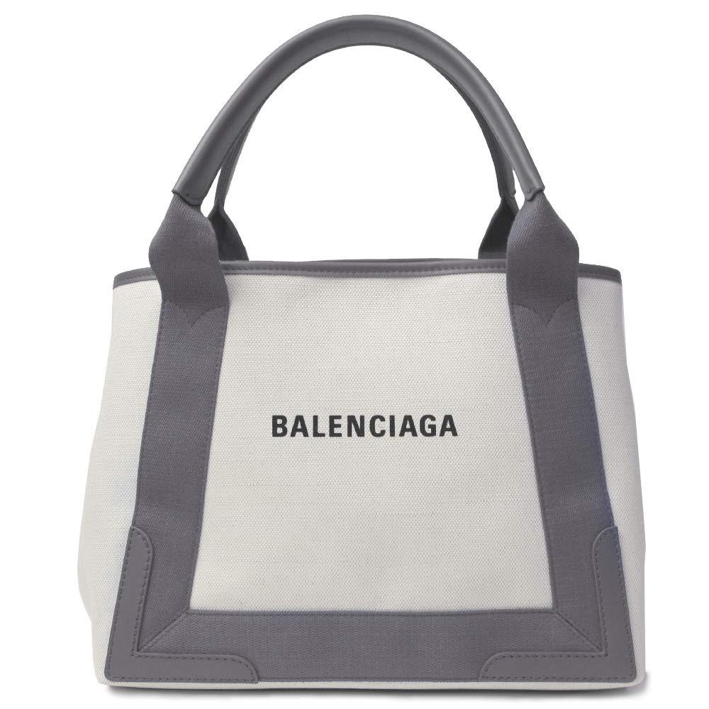 バレンシアガ バッグ ネイビーカバS BALENCIAGA 339933 AQ38N 1381 グレー+ナチュラル [並行輸入品] B07GV8D3HJ
