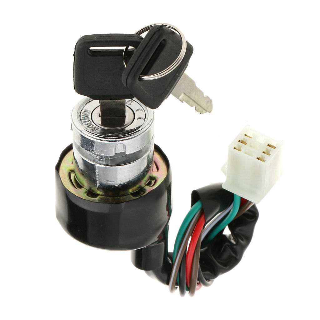 MagiDeal Ignition Switch 6 Wire 3 Position for Motorcycle Scooter Quad Bike Go-Kart