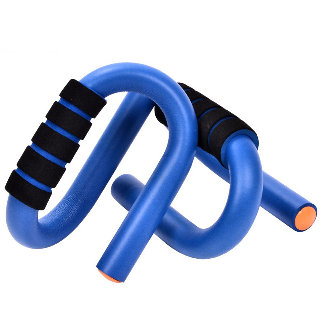 Gymforward S-Shape Push Up Stand Bars Strength Training Pull-Up Bars EVA Foam Padded Handle Grips by Gymforward