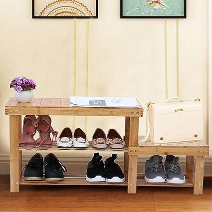 Awe Inspiring Amazon Com Sujing Shoe Rack Bench Shoes Racks Organizer Theyellowbook Wood Chair Design Ideas Theyellowbookinfo