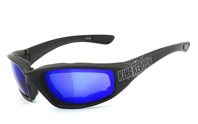 King Kerosin®: Bikerbrille, Motorradbrille, Sonnenbrille gepolstert - KK140-a