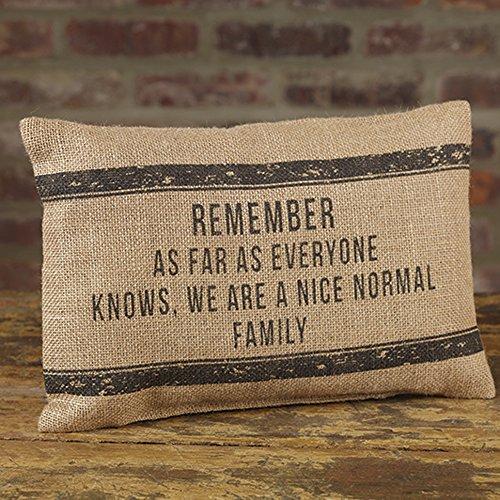 Pillow Sister Throw (Nice Normal Family 12 x 8 Burlap Decorative Throw Pillow)