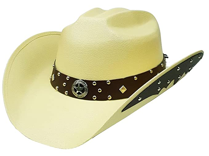 Image Unavailable. Image not available for. Colour  Modestone Unisex Cowboy  Hat Side Brim ... cc81e9f9e0d2