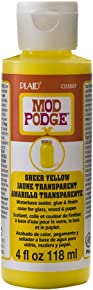 Mod Podge Waterbase Sealer, Glue and Finish Color in Assorted Colors (4-Ounce), CS15087 Sheer Yellow
