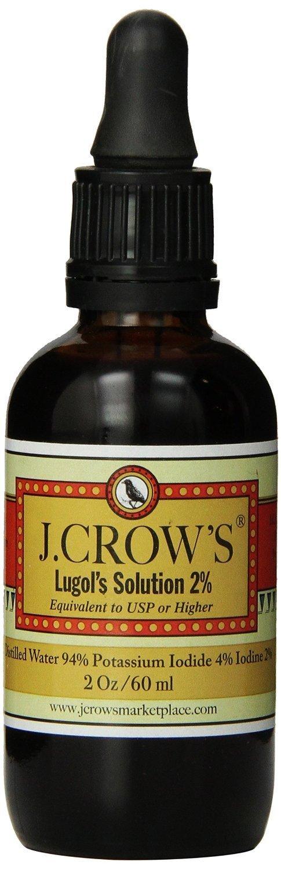 J.CROW'S® Lugol's Solution of Iodine 2% 2oz