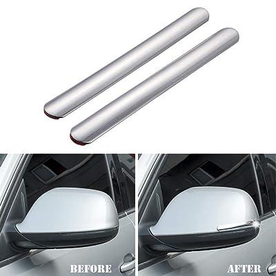 ATMOMO 2pcs Car Rear View Mirror Anti-Collision Strip Sticker Car Bumper Protector Mirror Protector Sticker: Automotive