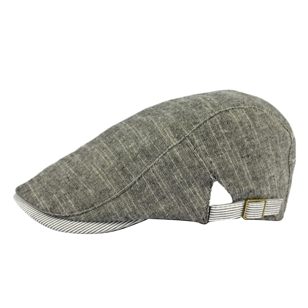 Zhhlinyuan Fashion newsboy Driving Hat Mens Vintage Cotton Flat Cap CQ0123
