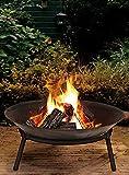 Cast Iron Garden Fire Pit Heater Bow Log Charcoal Burner