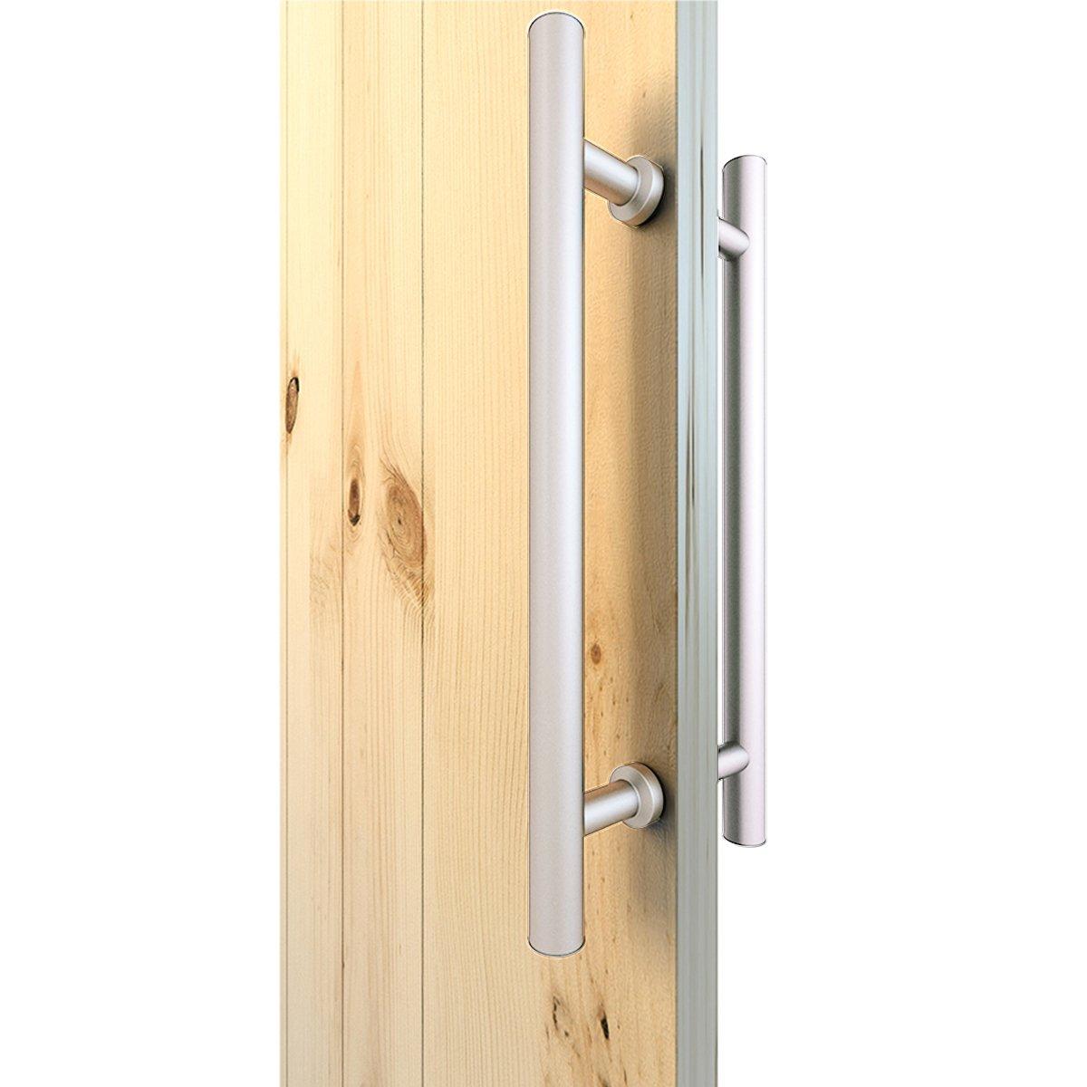 JUBEST Stainless Steel Wooden Barn Door Sliding Door Pull Handle Set Double Side Hardware by JUBEST (Image #1)