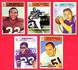 1966 Philadelphia Gum Co.(5) Card Football Reprint Lot with Original Backs (Jim Brown **Last Card Issued**) (Gale Sayers Rooie Card) (Dick Butkus Rookie Card) (John Unitas) (Bob Hayes Rookie Card)