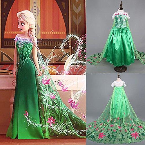 Disfraz De La Princesa Elsa Anna De Frozen Vestido Niña Con