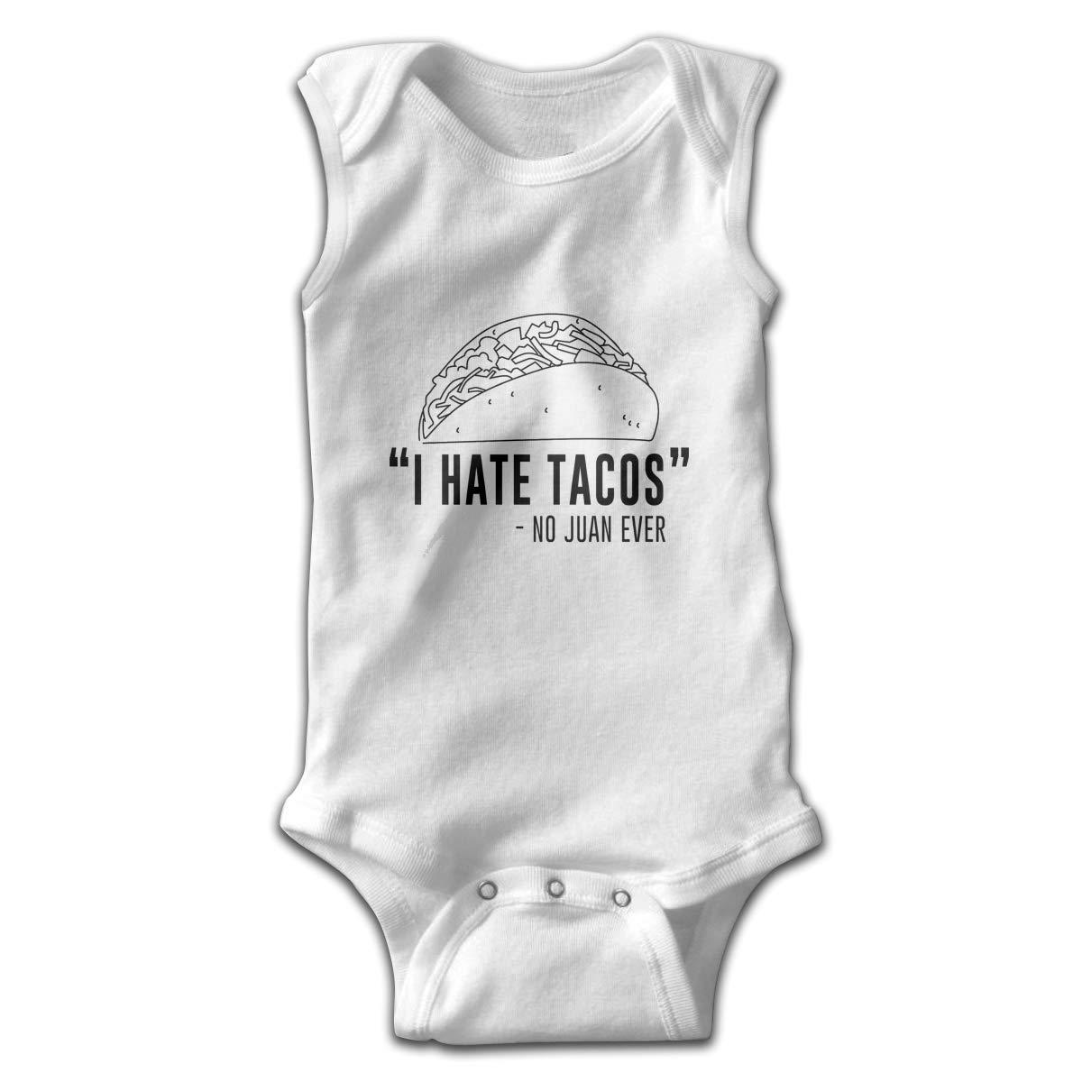 Toddler Baby Boys Rompers Sleeveless Cotton Jumpsuit,I Hate Tacos Said No Juan Ever Bodysuit Autumn Pajamas