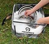 Freegrace Premium Folding Wash Basin - Collapsible Water Sink Container - Lightweight & Durable Transparent Plastic - Wash Dishes Everywhere - Suitable Camping & Outdoor Activities