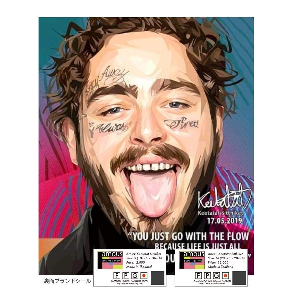 Post Malone/ポストマローン Mサイズ【予約:9月上旬発送】  B07S8CD2KR