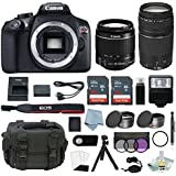 Canon EOS Rebel T6 Bundle With EF-S 18-55mm f/3.5-5.6 IS II & EF 75-300mm f/4-5.6 III Lens + Best Canon Camera Advanced Accessory Kit - Including EVERYTHING You Need To Get Started