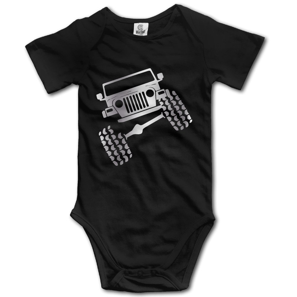 Jeep Wrangler TJ Funny Viny Platinum Style Baby Sleeveless Romper Jumpsuit Black