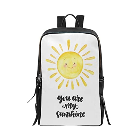 401d46dd6a InterestPrint Valentine Love Quotes You are My Sunshine with Smiling Sun  Unisex School Bag Casual Shoulders