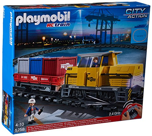 Playmobil 5258 City Action Remote Control (RC) Freight Train - Multi-Coloured