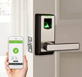 ZKTeco Electronic Smart Lock Biometric Fingerprint Door Lock with Bluetooth Keyless Home Entry with Your Smartphone