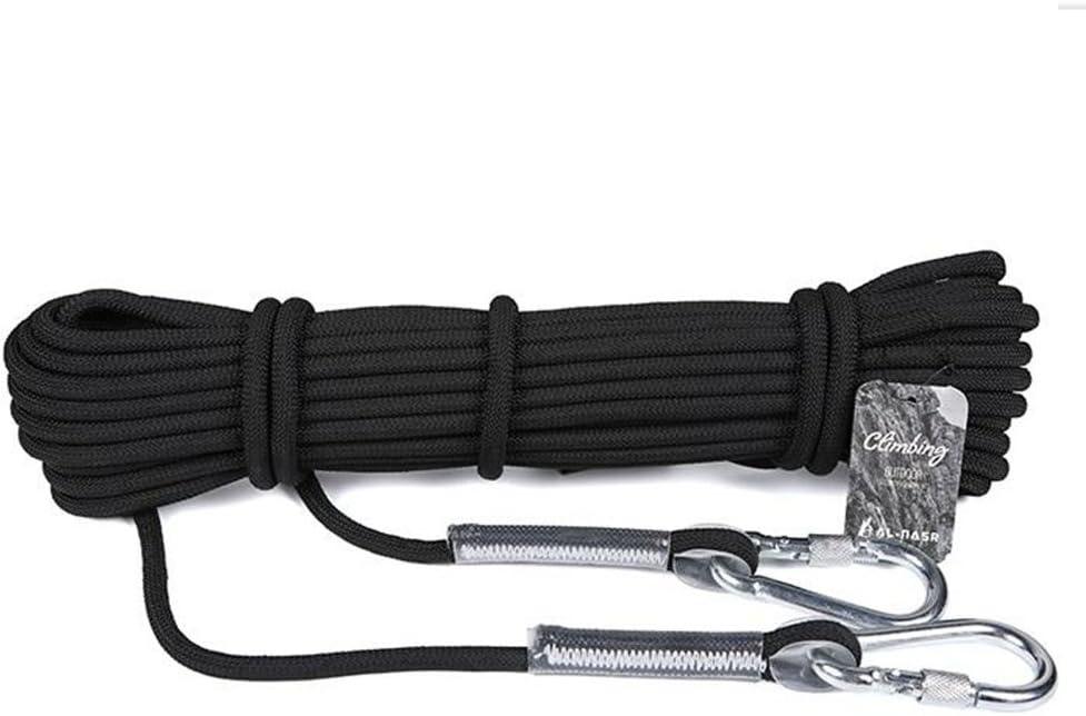 anhpi Rock Climbing Ropeアウトドア安全ホームLifeline Wear Resistantシュノーケリングロープ 20m*8mm ブラック 54621 ブラック 20m*8mm