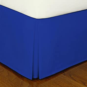 Blue Queen Bed Transitional Royal Skirt