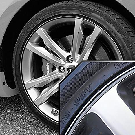 Amazoncom Upgrade Your Auto Wheel Bands Silver In Black Pinstripe