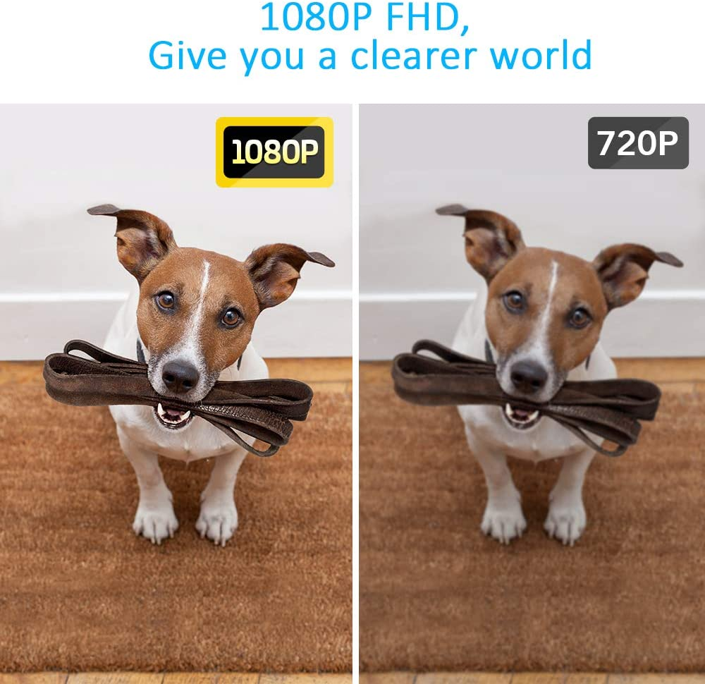 HD audio bidireccional Ctronics tarjeta micro SD 1080P detecci/ón de personas bater/ía 32 GB IP66 con campana de puerta 166/° impermeable Timbre de puerta inal/ámbrico