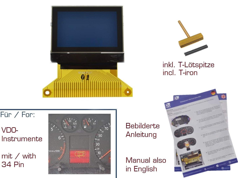 Pantalla LCD para A3//8L A4//B5 A6//C5 99-04 26P gearworks