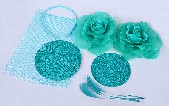 AOBRITON DIY Sinmay Fascinator Hat Bridal Fedora Wedding Banquet ... 7e881f9a6a3