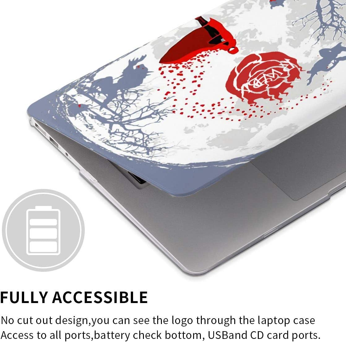 RWBY MacBook Case,Scratch Resistant Waterproof Laptop Hard Shell Cover Protective Case Release A1466 A1369 A1932 A1990 for Apple MacBook air13