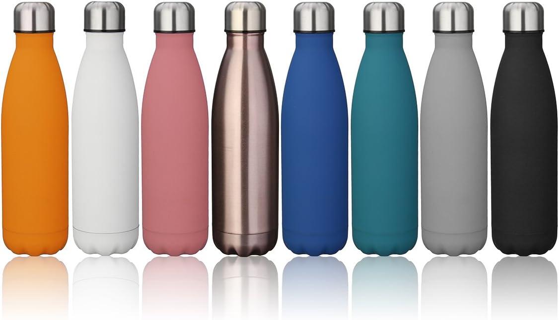 king do way Botella de Agua de Acero Inoxidable 500ML, Aislamiento de Vacío de Doble Pared, Mantente Frío/Caliente, Botellas Termica para Niños, Deportes, Al Aire Libre, Fitness, Yoga