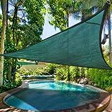 16.5′ Triangle Outdoor Sun Shade Sail Canopy Green