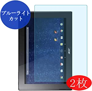 "【2 Pack】 Synvy Anti Blue Light Screen Protector for Acer iconia Tab A3-A30 10.1"" Anti Glare Screen Film Protective Protectors [Not Tempered Glass]"