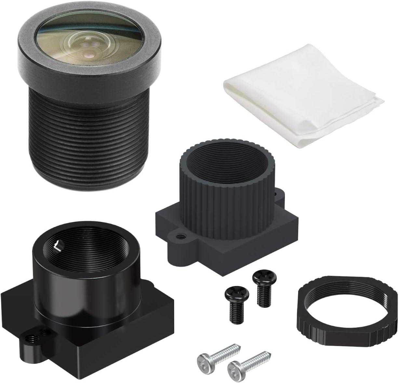 """Arducam M12 Lens, 1/2.7"""" 2.1mm Focal Length Lens with Lens Holder for Arduino and Raspberry Pi Camera, CCTV Security Camera"""